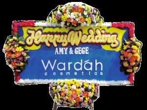 Bunga Papan Wedding 02- 2x1m