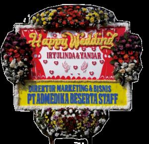Bunga Papan Wedding 20- 2×1,5