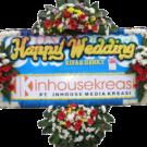 Bunga Papan Wedding 18- 2x1m