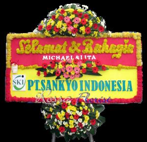 Bunga Papan Wedding 05- 2x1m