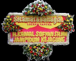 Bunga Papan Wedding 04- 2x1m