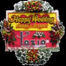 Bunga Papan Wedding 16- 2×1.5m
