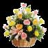 roses in basket 001