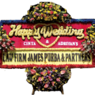 Bunga Papan Wedding 01- 2x1m