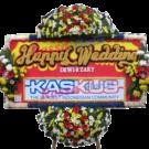 Bunga Papan Wedding 06- 2x1m